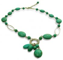 Turquoise and Silver 18 Inch Necklace