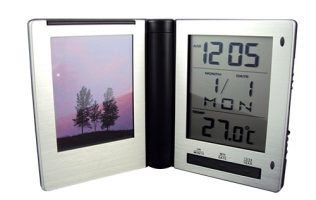 Travel Clock with Picture Frame