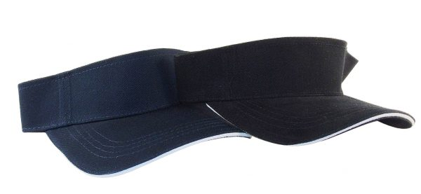 Sandwich Style Visor – Black And navy