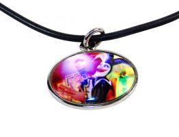 Oval Jester Character Necklace