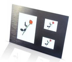 Panel Brushed Aluminum Metal Photo Frame