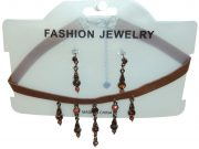 Gemstone Choker with Dangle Pendant And Earrings_Pack