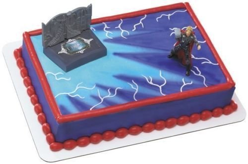 Thor Cake Decorating Set Thor Avengers Acton Figure