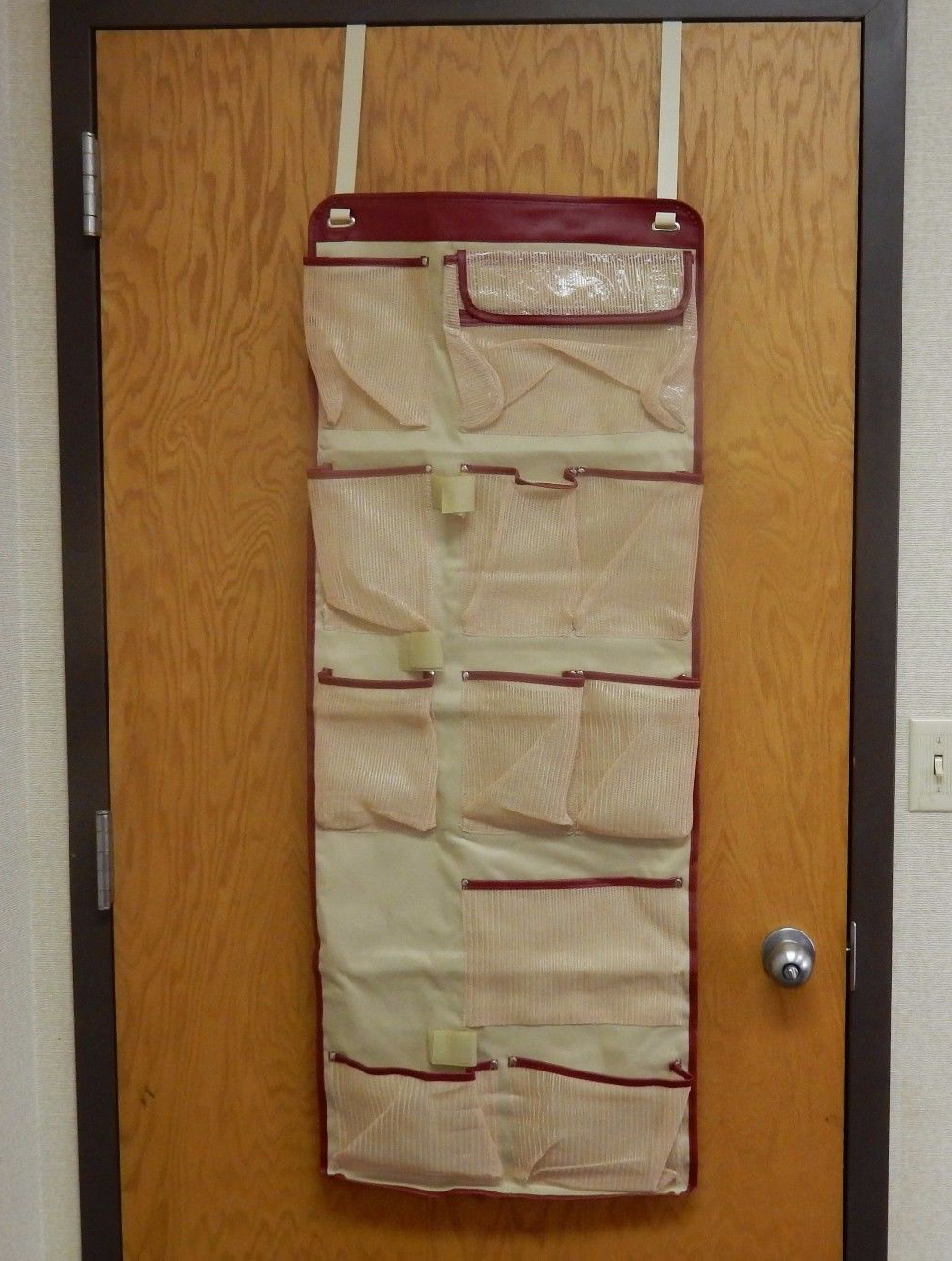 Over the door closet organizer 11 pockets pantry for Over wardrobe storage