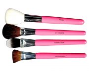 Makeup Brush Set Faux Leather Fuschia Storage_3